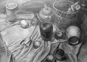 素描静物画的作画步骤