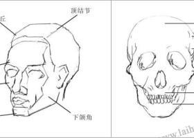 人物头部素描画法
