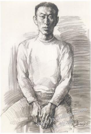 男青年像素描作画步骤04