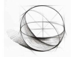 球体的素描画法