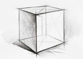 正方体的素描画法