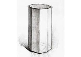 八棱柱的素描画法