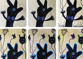 手影游戏儿童画教学