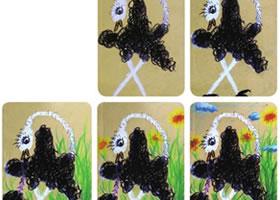 爱动的鸵鸟儿童画教学