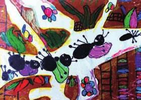 蚂蚁的家儿童画作品图片