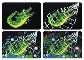 小鳄鱼儿童画教学过程