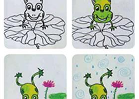 可爱的小青蛙儿童画教学