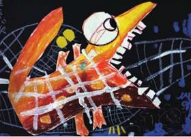 葫芦兄弟儿童画作品图片