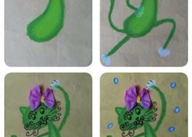 猫咪儿童画教学过程