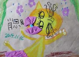 爱跳舞的猫咪儿童画作品图片