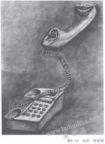 电话,手绘创意素描