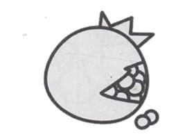 石榴简笔画画法步骤
