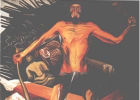 世界名画:《精神的现代变异》壁画