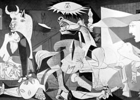 世界名画《格尔尼卡》布面油画