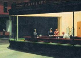 世界名画《夜游者》布面油画
