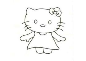 凯蒂猫简笔画画法步骤