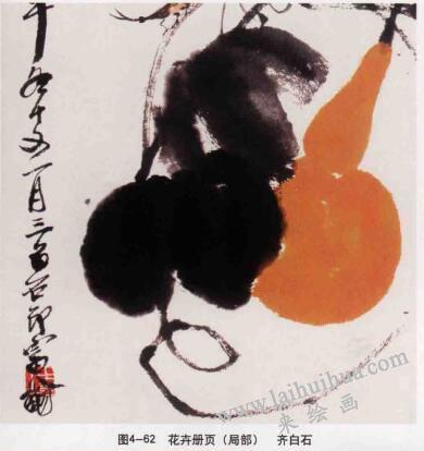 花卉册页,写意花鸟画常见的表现方法