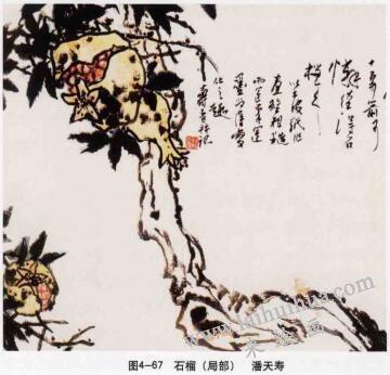 石榴,写意花鸟画常见的表现方法