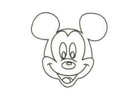 米老鼠简笔画画法步骤