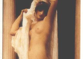 世界名画《沐浴的普赛克》布面油画