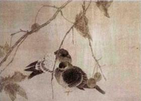 工笔花鸟画重彩法与淡彩法