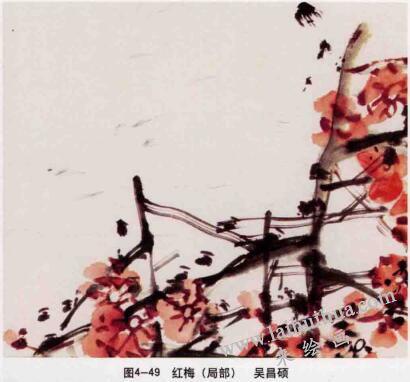 红梅(写意花鸟画的笔法)