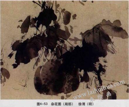 杂花图,写意花鸟画的墨法