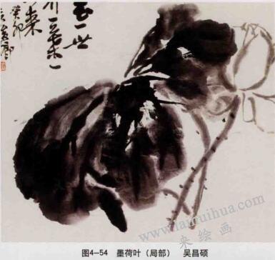 墨荷图,写意花鸟画的墨法