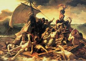世界名画《梅杜萨之筏》布面油画