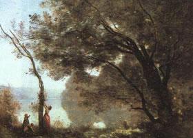 世界名画《摩特枫丹的回忆》布面油画