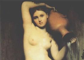 世界名画《春之仙女》(泉)布面油画