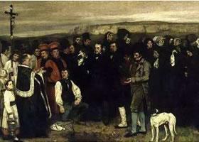 世界名画《奥南的葬礼》布面油画