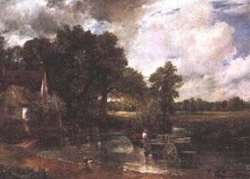 世界名画《干草车》布面油画
