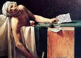 世界名画《马拉之死》布面油画