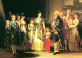 世界名画《查理四世一家》布面油画
