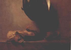 世界名画《死去的野鸡和狩猎包》布面油画