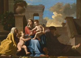 世界名画《台阶上的圣家族》