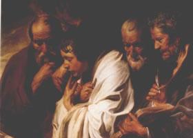 世界名画《四位福音书作者》布面油画