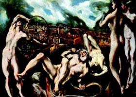 世界名画《拉奥孔》布面油彩