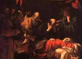 世界名画《圣母升天》布面油彩