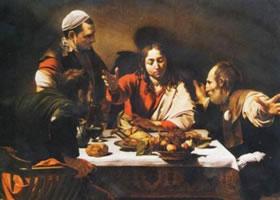 世界名画《以马忤斯的晚餐》布面油画