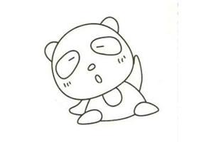 大熊猫简笔画画法步骤(一)