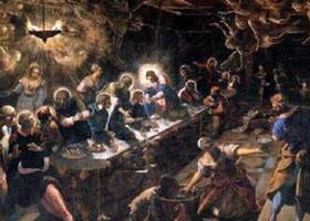 世界名画《最后的晚餐》(丁托列芒作品)