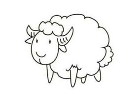 小羊简笔画画法步骤