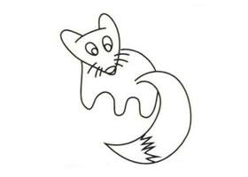 狐狸简笔画画法步骤(一)