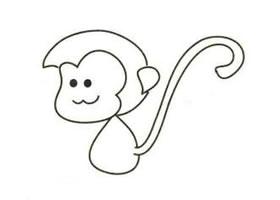 猴子简笔画画法步骤