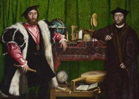 世界名画《大使们》(《两个外交家》)欣赏
