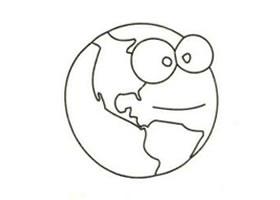 地球(星球)简笔画画法步骤