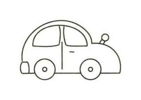 小汽车简笔画画法步骤(二)