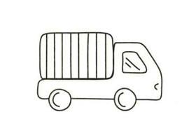 箱式货车简笔画画法步骤